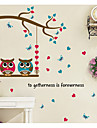 Animale Romantic Forme Perete Postituri Autocolante perete plane Autocolante de Perete Decorative Material Pagina de decorarede perete
