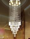 Lampe suspension en escalier en style europeen lampe en verre simple chandelier hotel villa duplex