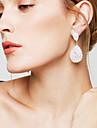 Cercei Picătură Ștras de Mireasă Elegant bijuterii de lux Ștras Argilă Picătură Lacrimă Alb Bijuterii Pentru Nuntă Petrecere Zilnic 1 Pair
