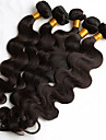 5pcs / lot 8-26inch couleur naturelle des cheveux humains tissent texture bresilienne corps vague faisceaux de cheveux humains