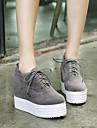 Damă Pantofi Flați Confortabili PU Toamnă Iarnă Casual Creepers Negru Gri Culoare ecran 5 - 7 cm