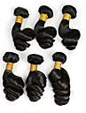 Tissages de cheveux humains Cheveux Peruviens Ondulation Legere 18 Mois 6 tissages de cheveux kg Meches Rapides