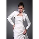 dlouhé rukávy saténové svatební bunda / svatební zábal (wsm0412)