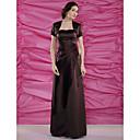 Lanting Bride® Tube / kolonne Plusstørrelse / Petite Kjole til brudens mor - Wrap er inkluderet Gulvlang Kortærmet Satin - Perler /