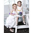 Lanting nevjesta ® a-linije / princeza gležanj duljine cvijet girl haljina - taft rukava špageti trake s lukom (i)