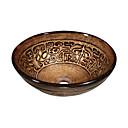 smeđi okrugli kaljenog stakla posuda za sudoper (0888-lja-6594)