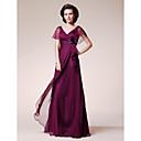 Lanting Bride® A-kroj Plus veličina / Niska građa Haljina za majku mladenke Do poda Kratkih rukava Šifon - Cvijeće / Volani