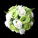 "Cvijeće za vjenčanje Krug Roses Buketi Vjenčanje / Party / Večernji Saten Zelen 9.84 ""(Approx.25cm)"