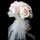 "Cvijeće za vjenčanje Krug / Ručno vezani Roses Buketi Vjenčanje / Party / Večernji Saten Narančasta 9.84 ""(Approx.25cm)"