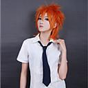 Cosplay Wigs Cosplay Cosplay Narančasta Short Anime Cosplay Wigs 35 CM Otporna na toplinu vlakna Male