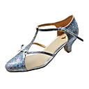 Ženske - Plesne cipele - Moderni plesovi / Balska sala - Šljokice / Velvet - Stiletto Heel - ljubičasta boja