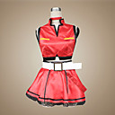 Inspirirana Vocaloid Meiko Video igra Cosplay nošnje Cosplay Suits / Dresses Kolaž Crvena Bez rukavaKaput / Suknja / Ogrlice / Gloves /