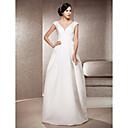 Lanting Bride® A-Linie / Princess Drobná / Nadměrné velikosti Svatební šaty - Elegantní & moderní Retro Na zem Do V Satén s