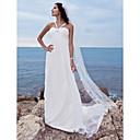 Lanting Bride® A-kroj Sitna / Veći brojevi Vjenčanica - Klasično i svevremensko / Glamurozno i izražajno Šlep plašt Srcoliki izrez Šifon s