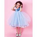 Lanting nevěsta ® alfa-line / plesové šaty / princezna ke kolenům květin šaty - taft / tyl bez rukávů šperk