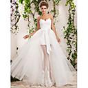 LAN TING BRIDE A-Linie Princess Svatební šaty - Elegantní & moderní Elegantní & luxusní Svatební šaty dva v jednom Na zem Srdce Tyl s