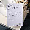 ロマンス(50個セット) - 結婚式の応答カードをパーソナライズ