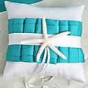 spiaggia a tema anello blu cuscino matrimonio con stella marina