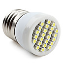E26/E27 1W 24 SMD 3528 80 LM Natural White LED Spotlight V