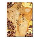 Handgeschilderde Beroemd / Mensen Eén paneel Canvas Hang-geschilderd olieverfschilderij For Huisdecoratie