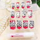 Navlaka crvena leopard uzorak stil akril nokte i savjeti s noktiju ljepilo