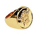 Jewelry Inspirirana Crna Butler Ciel Phantomhive Anime Cosplay Pribor prsten Zlatna PU Leather Male