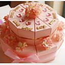 pink kartica papira vjenčanje milost kutije sa cvijećem (set od 20)