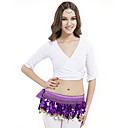dancewear kristalima pamuk yoga top za dame više boja