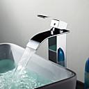 Koupelnové baterie Sprinkle®  ,  Moderní  with  Pochromovaný Jeden kohoutek S jedním otvorem  ,  vlastnost  for Vodopád / Baterie na střed