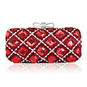 Shining Satin with Crystal Evening Handbags/Clucthes(More Colors)