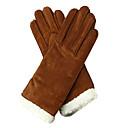 rukavice stylové dámské kožené módy Cow hřiště (více barev)