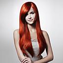 lesklá paruka dlouhé rovné vlasy, více barevných odstínů