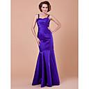 Lanting Bride® Mořská panna Větší velikosti / Malé Šaty pro matku nevěsty Na zem Bez rukávů Satén - Nabírání / Křížení / Flitry
