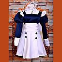 Inspirirana Crna Butler Mey-Rin Anime Cosplay nošnje Cosplay Suits / Dresses Kolaž Bijela Dugi rukav Haljina / Traka za kosu