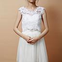 Svatební zábaly vesty Bez rukávů Krajka Bílá Párty a večerní akce Vpředu otevřený