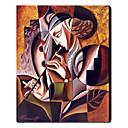 Ručně malované Abstraktní / Abstraktní portrét Jeden panel Plátno Hang-malované olejomalba For Home dekorace