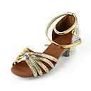 Dámské - Taneční boty - Latina / Taneční sál - Satén - Masivní podpatek