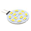 2W G4 LED svjetla s dvije iglice 12 SMD 5630 220 lm Toplo bijelo DC 12 V