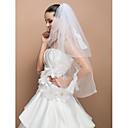 Vjenčani velovi Two-tier Elbow Burke Cut Edge 39,37 u (100cm) Til Slonovača Retka, Ball haljina, princeza, Plašt / stupac, Truba / sirena