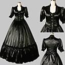 Jednodílné/Šaty Klasická a tradiční lolita Lolita Cosplay Lolita šaty Černá Jednobarevné Polodlouhé rukávy Long Length Šaty Pro Dámské