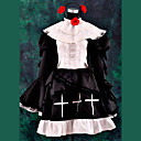 Inspirirana Cosplay Cosplay Anime Cosplay Kostimi Cosplay Suits / Dresses Kolaž Crna Dugi rukav Haljina / Traka za kosu