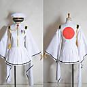 に触発さ Vocaloid Hatsune Miku ビデオ ゲーム コスプレ衣装 コスプレスーツ / 着物 ホワイト ロング コート / スカート / ハット / 手袋 / ストッキング
