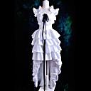 Inspirirana Chobits HZZO Anime Cosplay nošnje Cosplay Suits / Dresses Jednobojni Bijela Kratki rukav Haljina / Ribbon