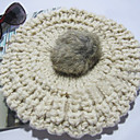 ženske pletu zečje krzno hat