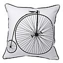 ヴィンテージ自転車のプリント装飾枕カバー