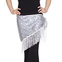 dancewear prestazioni paillettes con la sciarpa del ventre hip nappe per le signore colori più