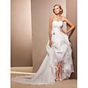 Lanting Bride® A-Linie / Princess Drobná / Nadměrné velikosti Svatební šaty - Klasické & nadčasové Asymetrické Srdce Organza s
