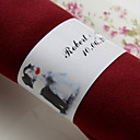 Personalized Paper Napkin Ring - Our Happy Wedding-Set Of 50