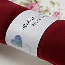 Personalized Paper Napkin Ring - Double Hearts (Set of 50)