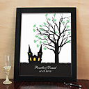Personalized Fingerprint Painting Canvas Prints - Church (Includes 6 Ink Colors And Frame)